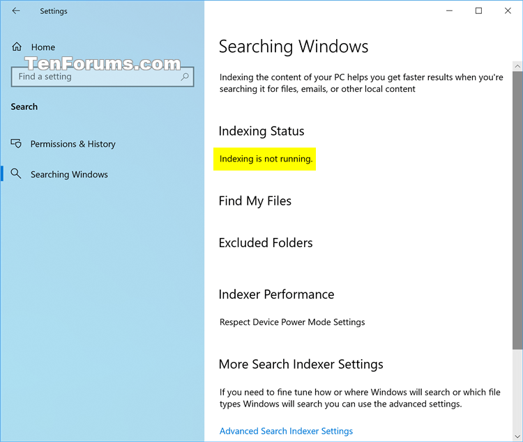 Enable or Disable Search Indexing in Windows-searching_windows_settings_page.png