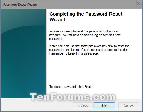 how do i reset my computer login password