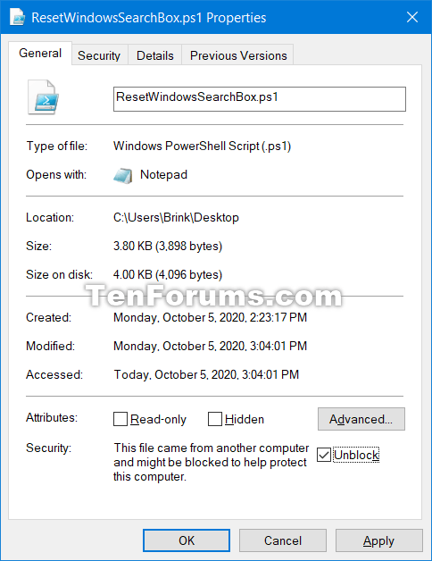 How to Reset Windows Search in Windows 10-unblock.png