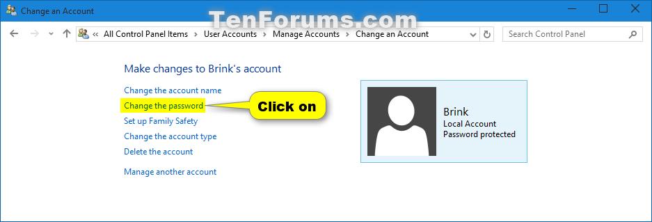 delete local user account