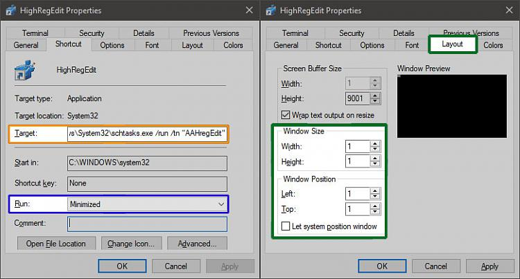 Create Elevated Shortcut without UAC prompt in Windows 10-noflash-nouac.jpg