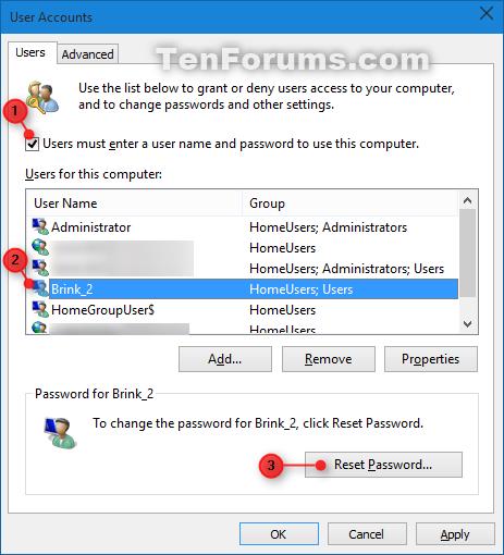 eliminate win 10 password