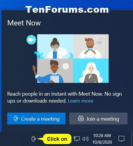 How to Add or Remove Meet Now icon on Taskbar in Windows 10-meet_now_notificaiton_icon.jpg