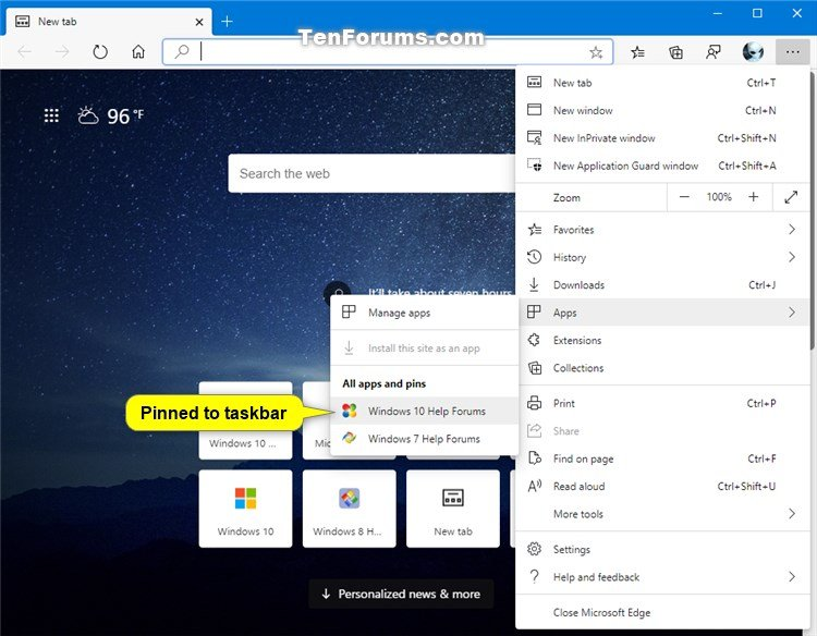 Pin Sites to Start Menu with Microsoft Edge Chromium in Windows 10-microsoft_edge_apps_and_pins.jpg