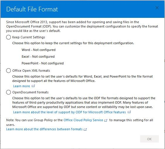 Custom install or change Microsoft Office with Office Deployment Tool-format_selection.jpg