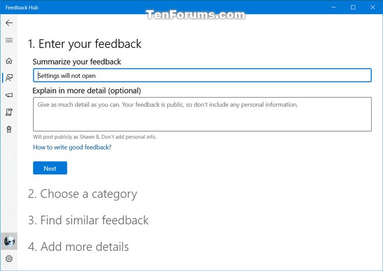 How to Send Feedback to Microsoft with Feedback Hub app in Windows 10-feedback_hub-3.png