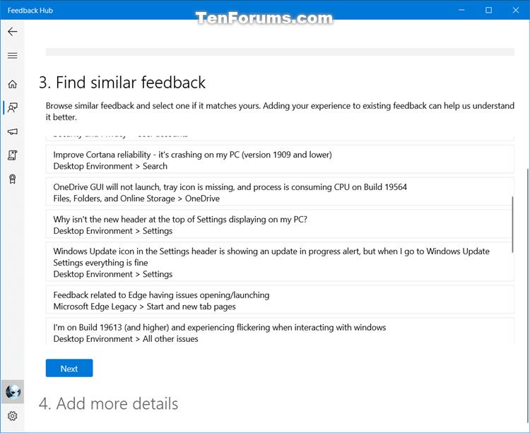How to Send Feedback to Microsoft with Feedback Hub app in Windows 10-feedback_hub-5.png