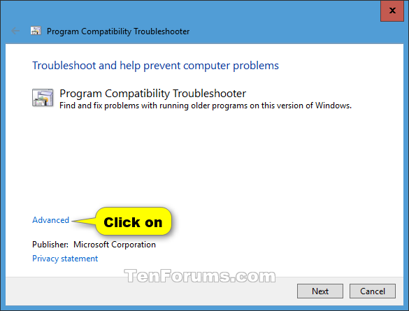 Name:  Program_Compatibility_Troubleshooter-2.png Views: 66548 Size:  21.1 KB