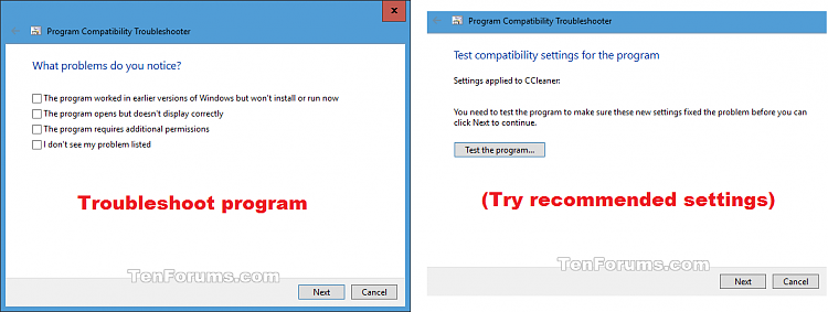 """I received the error """"Windows Program …"""