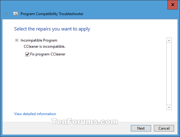 Name:  Program_Compatibility_Troubleshooter-5.png Views: 66537 Size:  11.4 KB