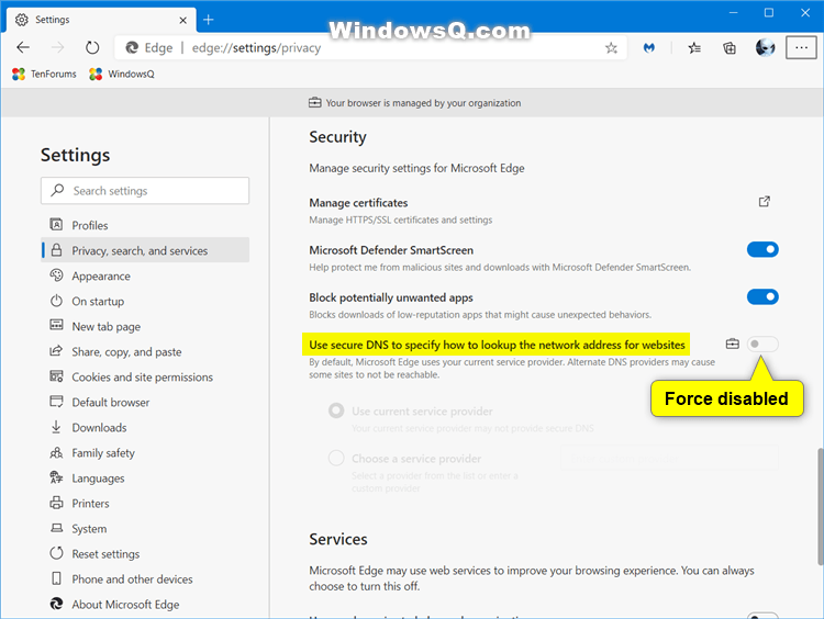 How to Enable or Disable DNS over HTTPS (DoH) in Microsoft Edge-force_disable_built-in_secure_dns_in_microsoft_edge.png