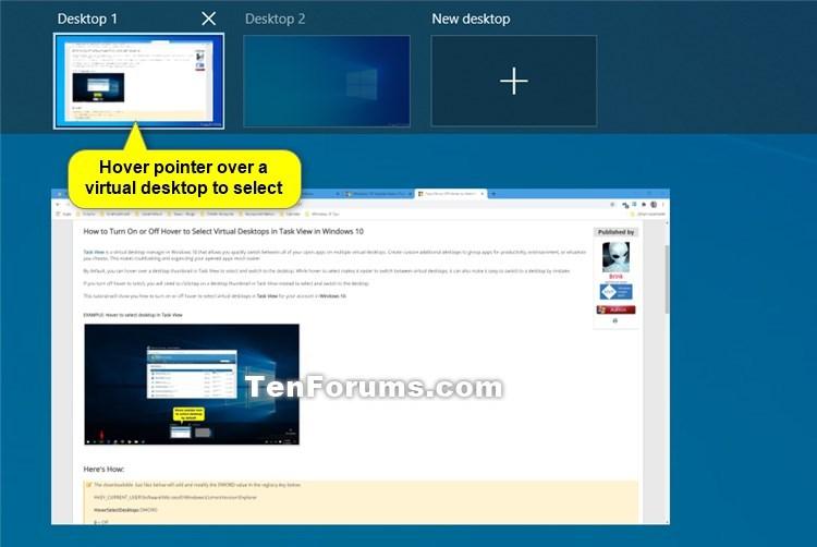 Turn On or Off Hover to Select Desktops in Task View in Windows 10-task_view_hover_to_select_virtual_desktop.jpg