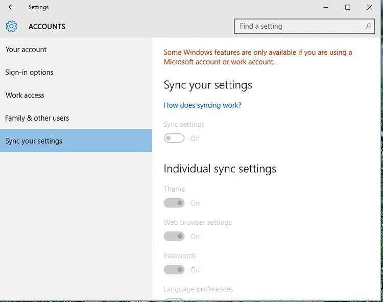 how to turn on sync acount