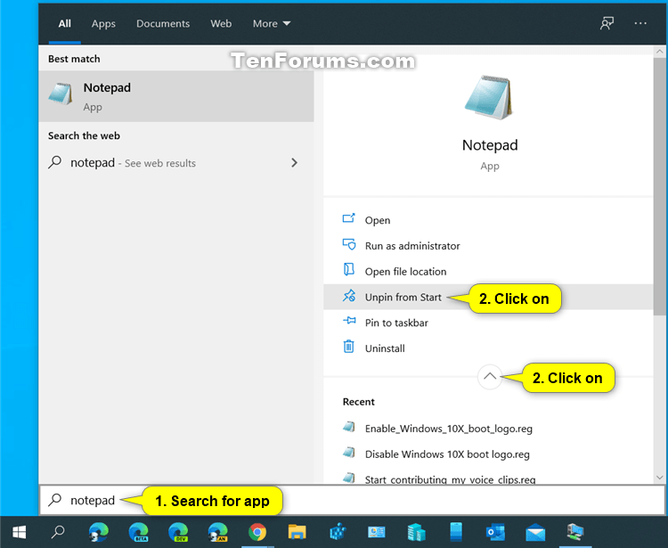 'Pin to Start' and 'Unpin from Start' items in Windows 10-unpin_from_start_from_search.png