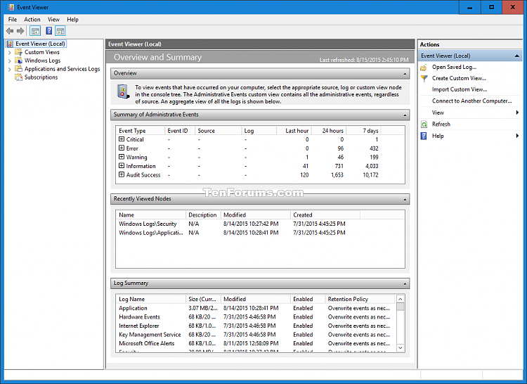 Clear All Event Logs in Event Viewer in Windows-event_viewer-2.png