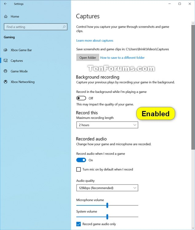 Enable or Disable Windows Game Recording & Broadcasting in Windows 10-game_captures_enabled-1.jpg