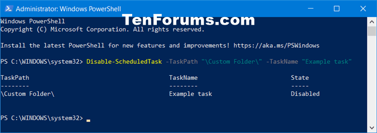 How to Enable or Disable Scheduled Task in Windows 10-disable_scheduled_task_in_powershell.png