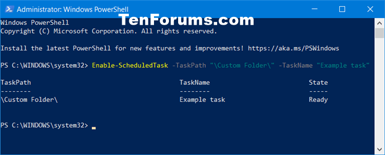 How to Enable or Disable Scheduled Task in Windows 10-enable_scheduled_task_in_powershell.png