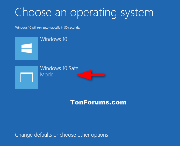 Safe Mode - Add to Boot Options in Windows 10 - Windows 10 Forums