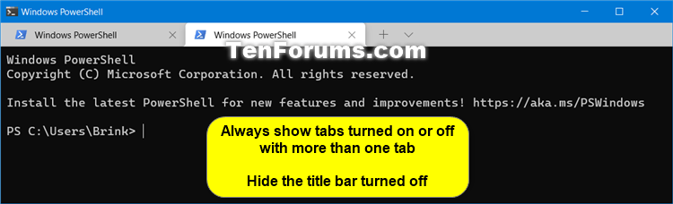 Enable or Disable Always Show Tabs in Windows Terminal in Windows 10-windows_terminal_more_than_one_tab.png