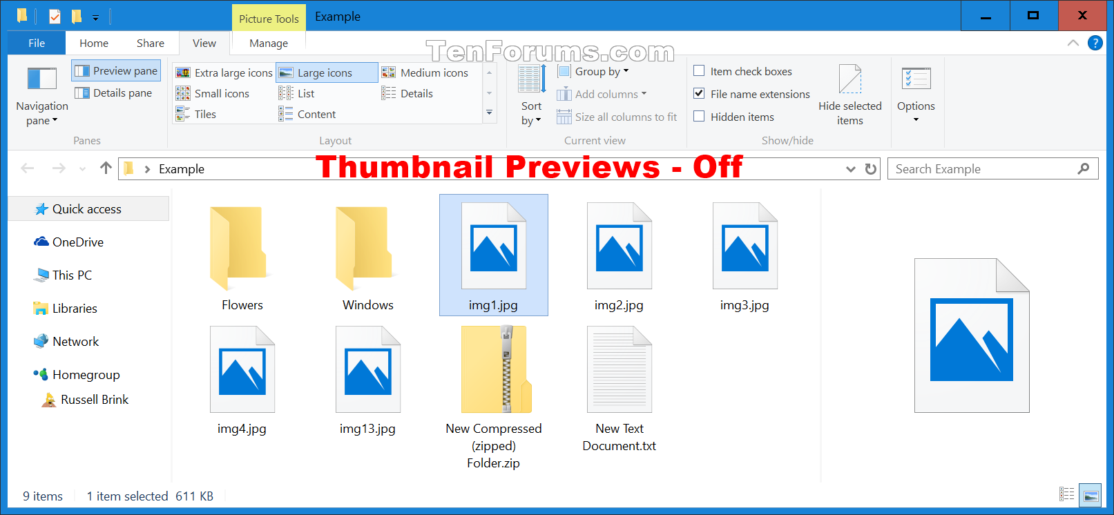 Enable or Disable Thumbnail Previews in File Explorer in Windows ...