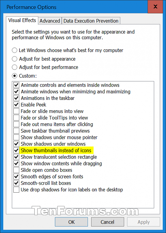 Enable or Disable Thumbnail Previews in File Explorer in Windows 10-thumbnails_visual_effects.png