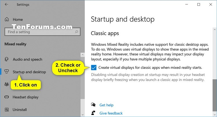 Enable or Disable Virtual Displays for Classic Apps in Mixed Reality-mixed_reality_classic_apps_settings.jpg