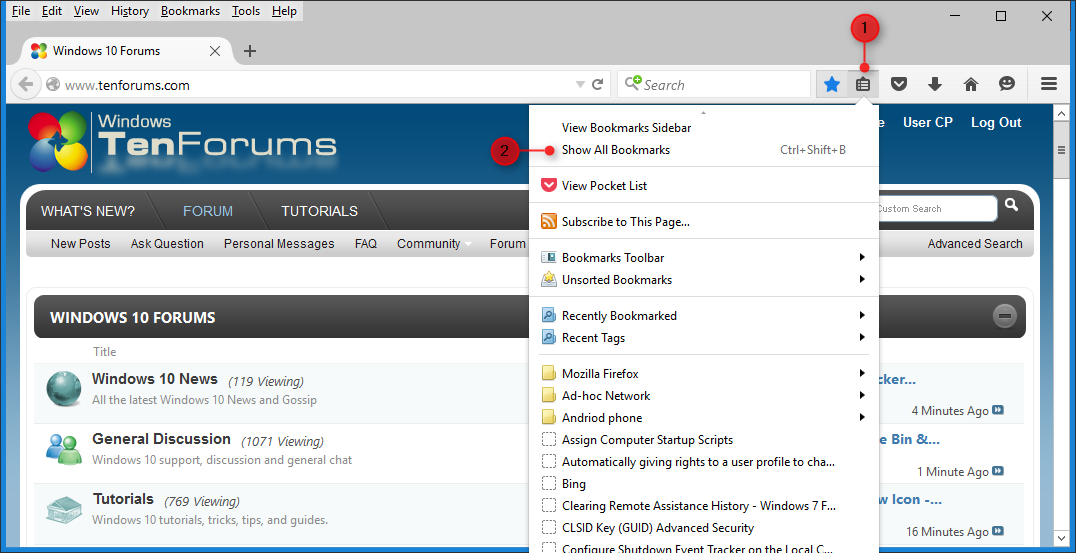 Internet Explorer - Import Bookmarks from Firefox in Windows