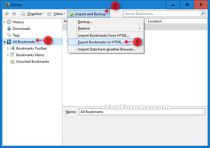 Internet Explorer - Import Bookmarks from Firefox in Windows 10 | Tutorials