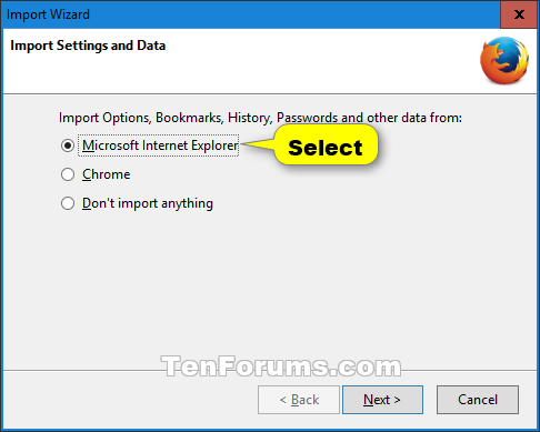how to export bookmarks from ie 11 to firefox