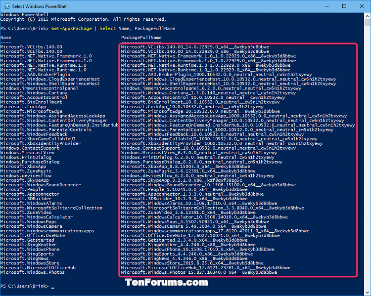 Click image for larger version.  Name:Uninstall_modern_apps_in_PowerShell-1.png Views:1790 Size:114.2 KB ID:34599