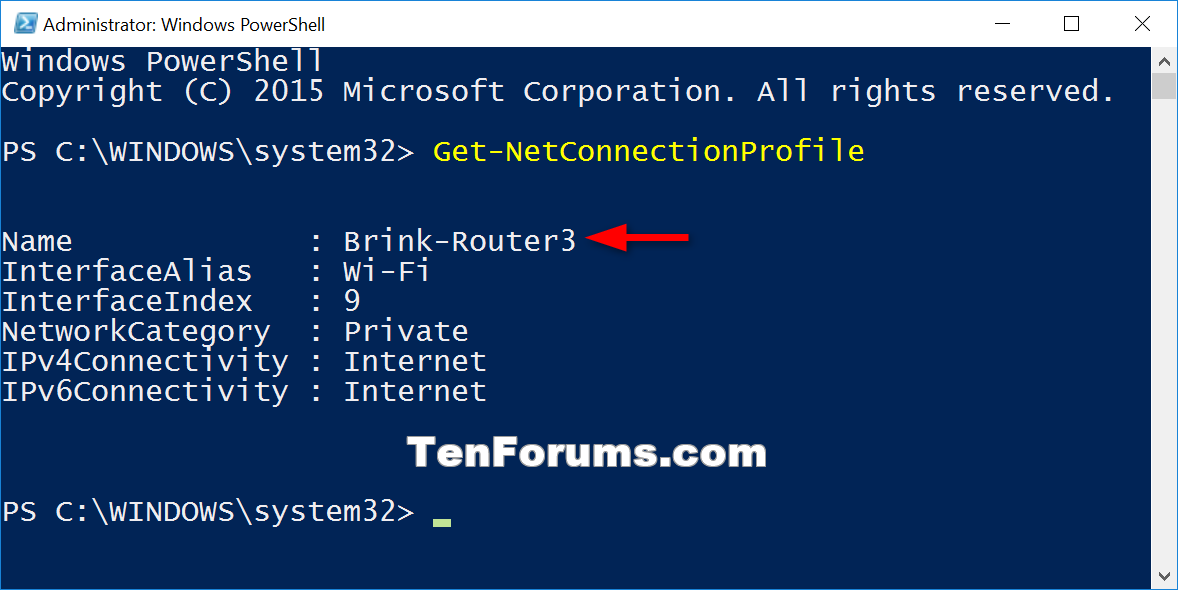 how to set windows network as private