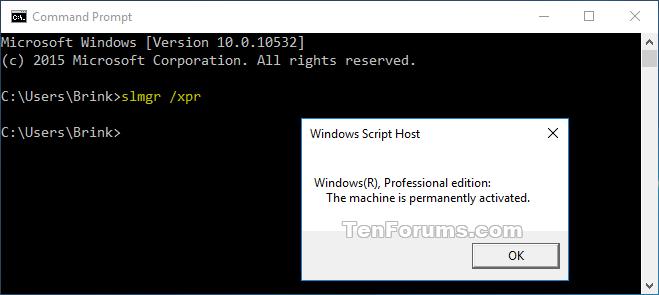 Check activation of windows 10 windows 10 tutorials name xprcommandactivatedg views 3156 size 148 kb ccuart Images
