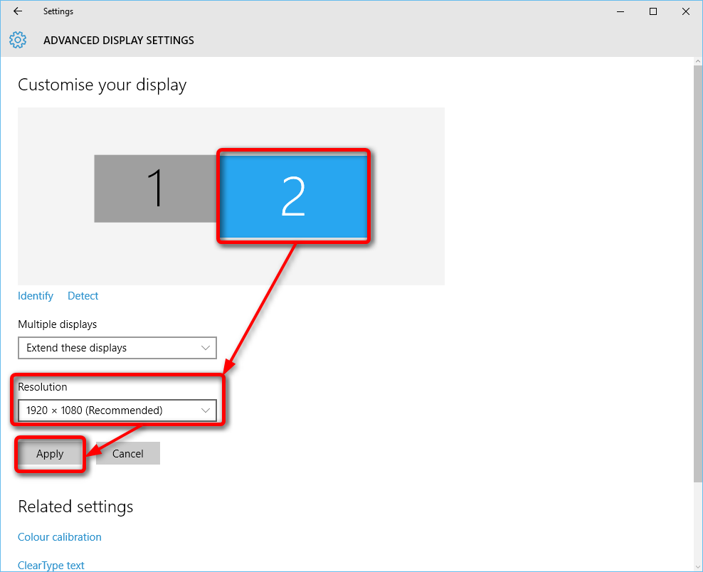 Multiple Displays - Change Settings and Layout in Windows 10 | Tutorials
