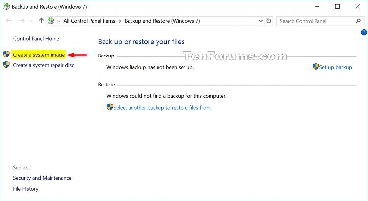 Create System Image in Windows 10 | Tutorials