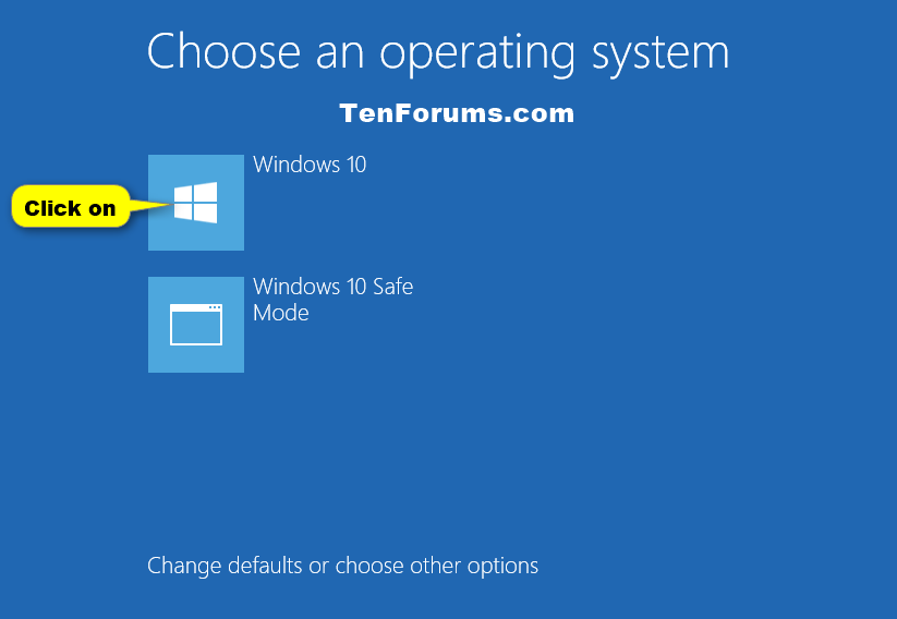 Choose Default Operating System to Run at Startup in Windows