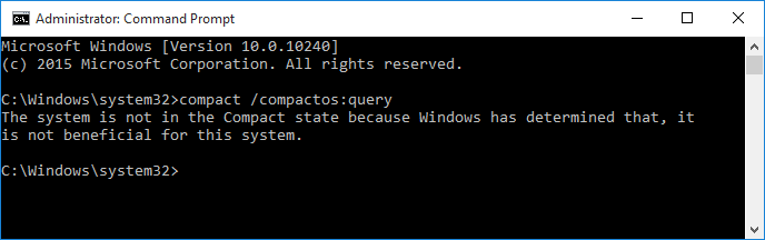 Compress or Uncompress Windows 10 with Compact OS-compactosquery.png