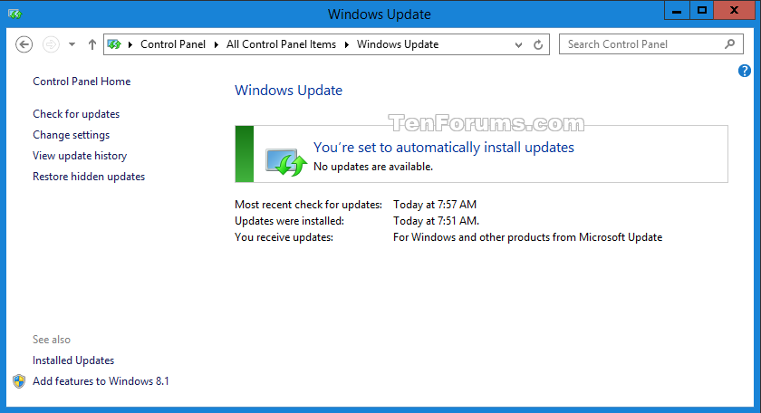 Disable upgrade to windows 10 update in windows 7 or 81 windows click image for larger version name windowsupdateg views 8993 size disable upgrade to windows 10 ccuart Image collections