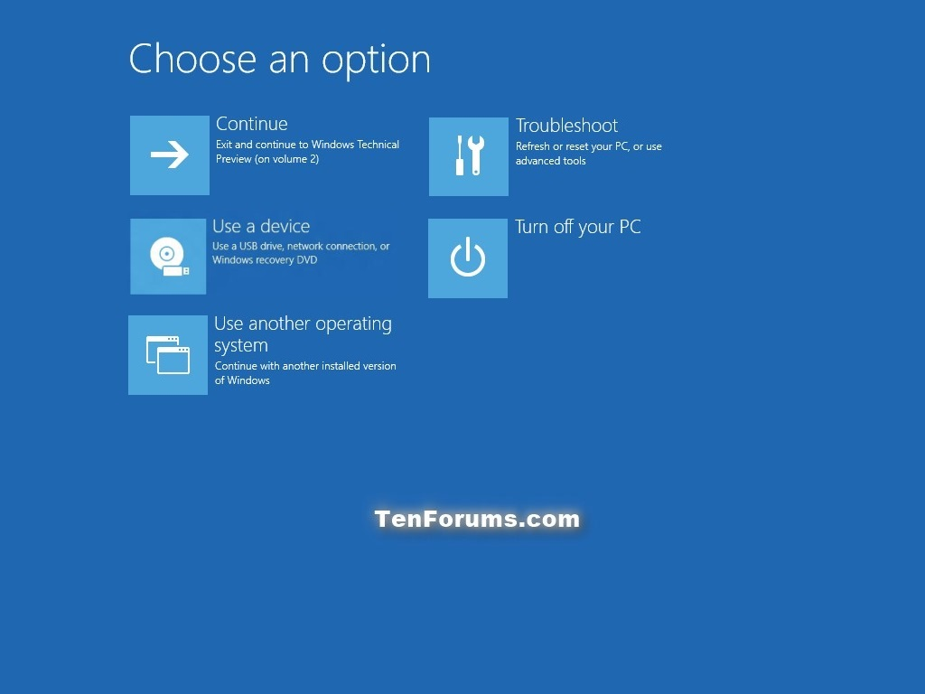 Enable or Disable F8 Advanced Boot Options in Windows 10