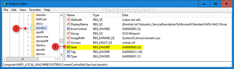 Enable AHCI in Windows 8 and Windows 10 after Installation-ahci_registry-1.png