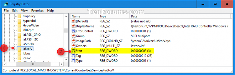 Enable AHCI in Windows 8 and Windows 10 after Installation-ahci_registry-3.png