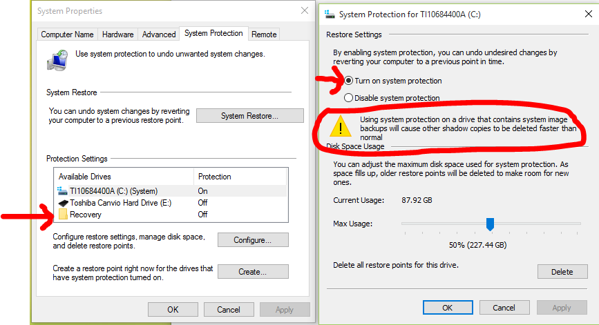 Turn On or Off System Protection for Drives in Windows 10 | Tutorials