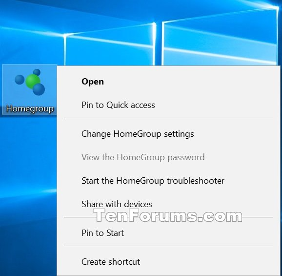 windows 10 homegroup icon appeared on desktop