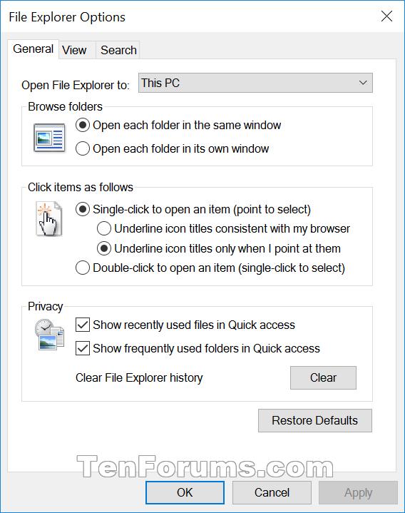Click image for larger version.  Name:File_Explorer_Options-General.png Views:1852 Size:36.4 KB ID:39070