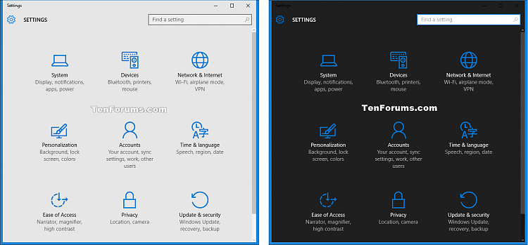 Change Default App & Windows Mode to Light or Dark Theme in Windows 10-settings.png