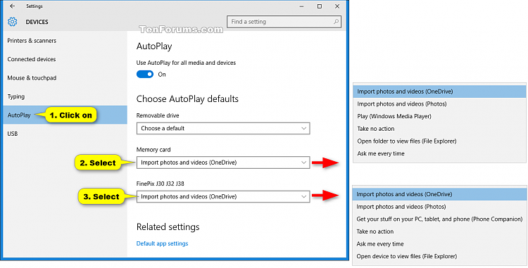 Turn On or Off Auto Save Photos and Videos to OneDrive in Windows 10-autoplay_settings.png