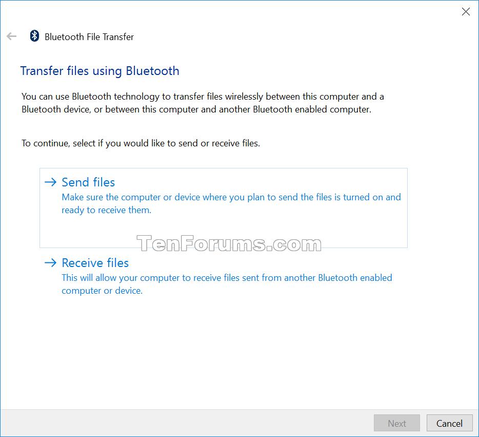 Add Bluetooth context menu in Windows 10  Windows 10 Tutorials
