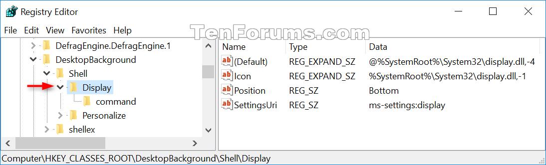 Remove Display settings from Desktop Context Menu in Windows