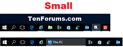 how to change size of taskbar windows 10