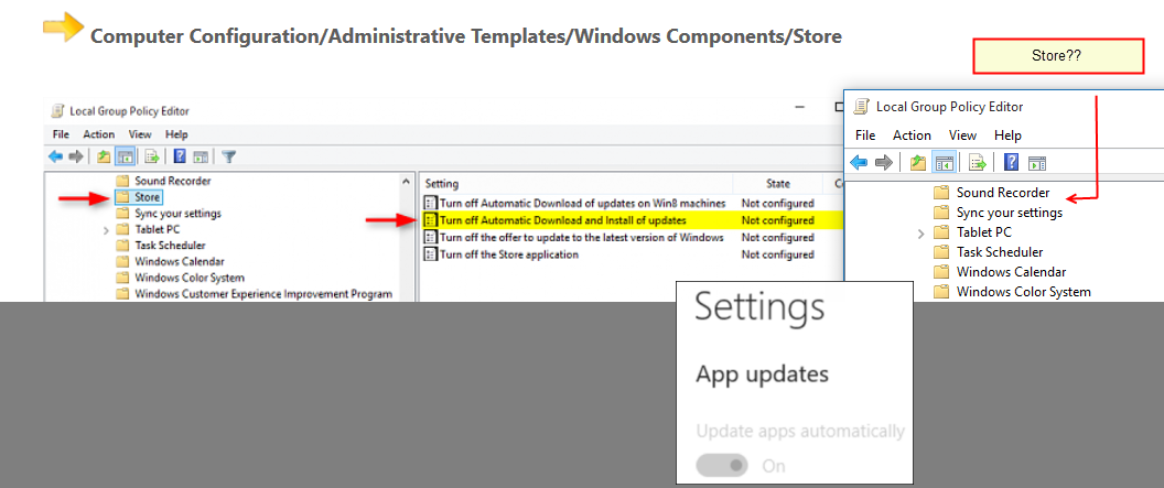 Turn On or Off Automatic Updates for Apps in Windows 10 Store